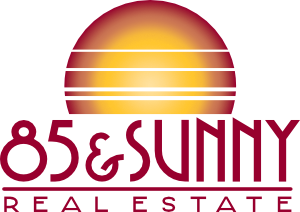85 and Sunny Real Estate Logo for Loading Spinner